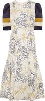 Roksanda Thalia Printed Silk-twill Dress - Ivory