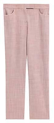Theory Women's Houndstooth Cropped Pants - Size 0