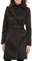 Lauren Ralph Lauren Leather-Trim Trench Coat