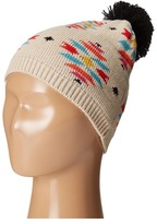 San Diego Hat Company Kids Pattern Beanie with Pom and Ribbed Opening (Little Kids)