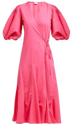 Rhode Resort Fiona Cotton Wrap Dress - Womens - Pink