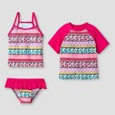 Floatimini Floatmini Girls' Floral 3-Piece Rashguard Set - Pink