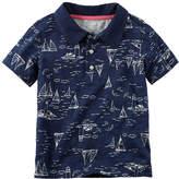 CARTERS Carter's Short Sleeve Solid Polo Shirt - Baby Boys