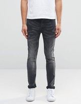 ONLY & SONS Gray Washed Jeans in Slim Fit