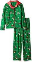 Peanuts Charlie Brown Christmas Traditional Girls Pajama for girls (10/12)