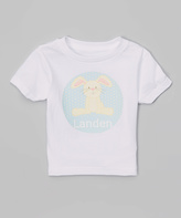 Swag White Floppy Bunny Personalized Tee - Infant Toddler & Boys
