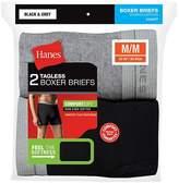 Hanes Men's Red Label Boxer Brief Blk/Grey P2