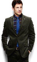 Classic Men's Tailored Fit Twill Corduroy Sportcoat-Light Camel Heather