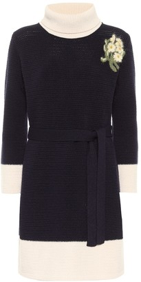 Gucci Embellished wool minidress