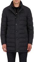 Moncler Men's Wool Down-Quilted Coat-DARK GREY