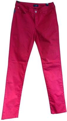 Armani Jeans Red Cotton - elasthane Jeans for Women