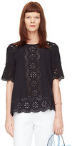 Kate Spade Embroidered daisy swing top