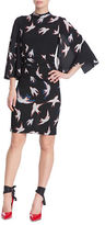 Tracy Reese Bird Printed Kimono Dress