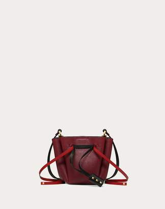 Valentino Garavani Small Vlogo Cowhide Bucket Bag Women Cherry OneSize