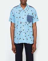 Junya Watanabe Cotton Print x Dot Print SS Button Up