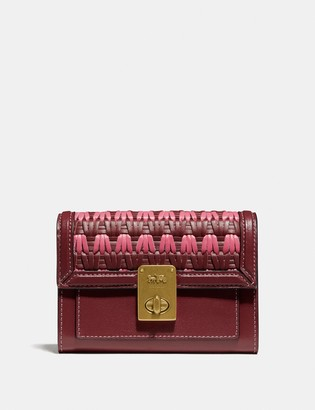 Coach Hutton Wallet With Weaving