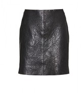 Carven TEXTURED LEATHER MINI SKIRT