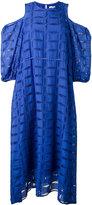 Tibi open shoulder dress - women - Silk/Cotton - 4