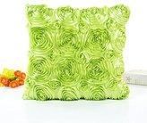 "Romantic Large 3D Rose Flower Decor Cushion Cover,Highpot Square 43X43cm/16.9X16.9"" Throw Pillow Case Creative Sofa Chair Car Office Home Decor (Green)"