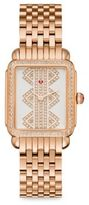 Michele Deco II Mid Diamond & Rose Goldtone Stainless Steel Bracelet Watch
