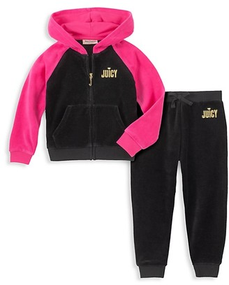 Juicy Couture Little Girl's 2-Piece Velour Hoodie Pant Set