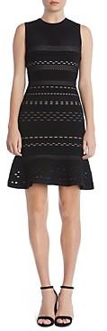 Bailey 44 Crepe Suzette Laser-Cut Sweater Dress