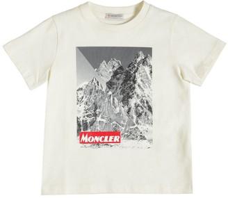 Moncler Mountain Print Cotton Jersey T-Shirt