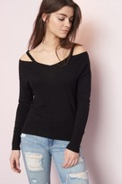 Garage V-Neck Cold Shoulder Top