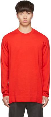 Comme des Garçons Shirt Red Wool Gauge 14 Sweater