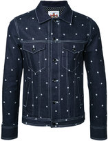 Education From Youngmachines - stars print denim jacket - men - Cotton/Polyurethane - 1