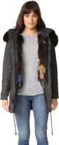 Alice + Olivia Tandy Oversized Fur Parka