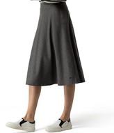 Tommy Hilfiger Wool Flannel Midi Skirt