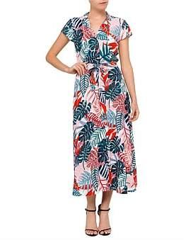 David Jones Tropical Print Button Dress
