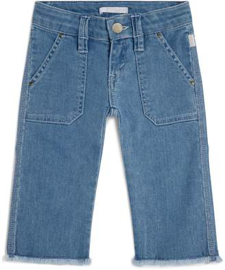 Chloé Kids Raw Hem Cropped Jeans