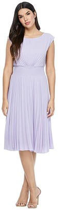 Maggy London Pleated Sunburst Dress (Lavender) Women's Dress