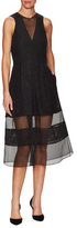 Timo Weiland Tennessee Jacquard Inset Mesh Dress