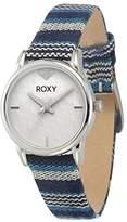 Roxy Women's RX/1018WTBL The Huntington Blue Multicolored Fabric Strap Watch