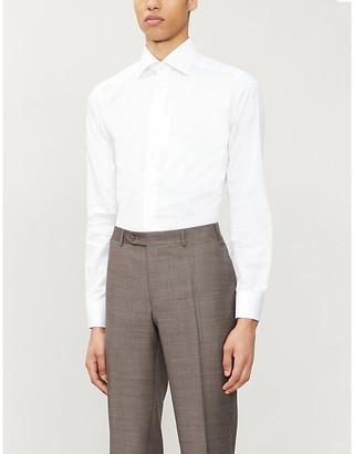 Eton Slim-fit cotton-poplin shirt
