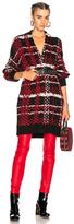 Rag & Bone Dawson Cardigan in Black,Checkered & Plaid,Red.