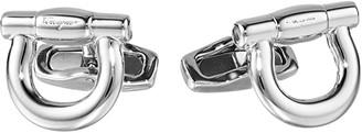 Salvatore Ferragamo Single Gancini Cuff Links (Silver 2) Cuff Links
