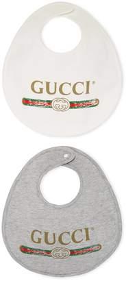 Gucci Baby logo cotton bib, set of two