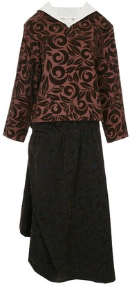 Comme des Garcons Pre Owned Swirling Fleur skirt suit