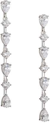 Nadri Pear and Round Linear Drop Earrings