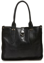 Frye 'Amy' Leather Shopper - Black