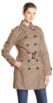 Jones New York Women's Double-Breasted Trench Coat