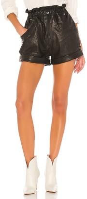 GRLFRND Shea Leather Shorts