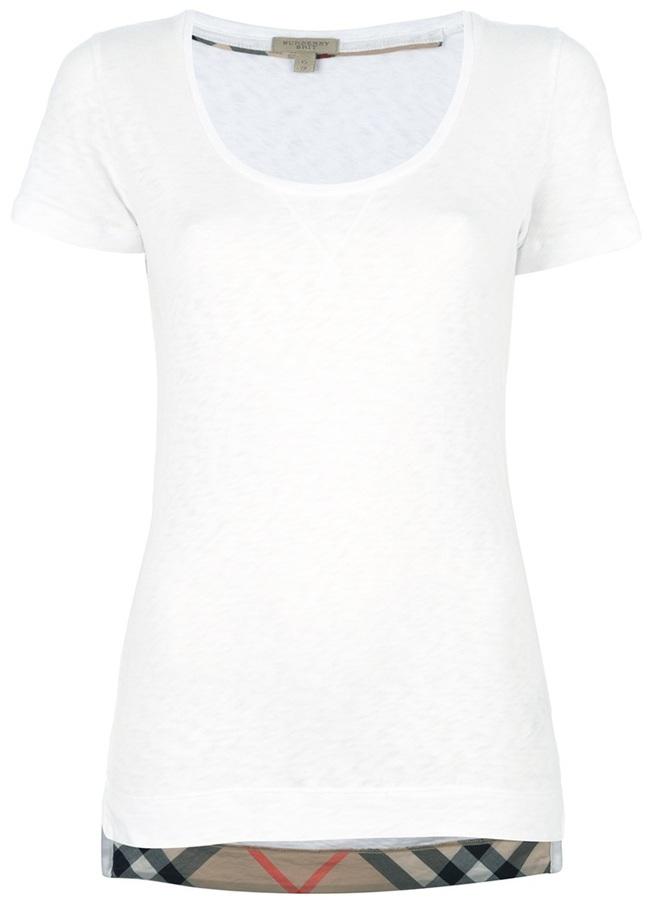 Burberry scoop neck t-shirt