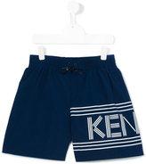 Kenzo logo print swim shorts - kids - Polyamide-8 - 16 yrs