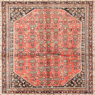 Bungalow Rose Carver Southwestern Red Area Rug Rug Size: Square 6'