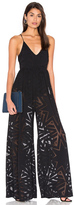 Mara Hoffman Compass Burn Out Wide Leg Jumpsuit